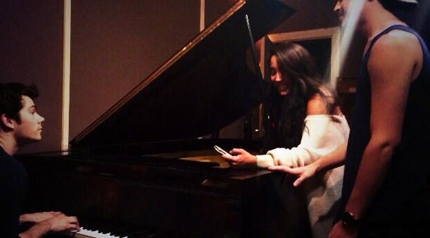 Alex & Sierra Record New Song With Teen Wolf Star (PHOTO)