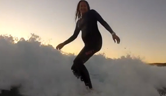Woman Surfs All Nine Months of Her Pregnancy — Totally Rad or Super Irresponsible?