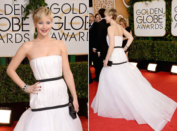 Jennifer Lawrence's Golden Globes Dress: Yea or Nay? (POLL)
