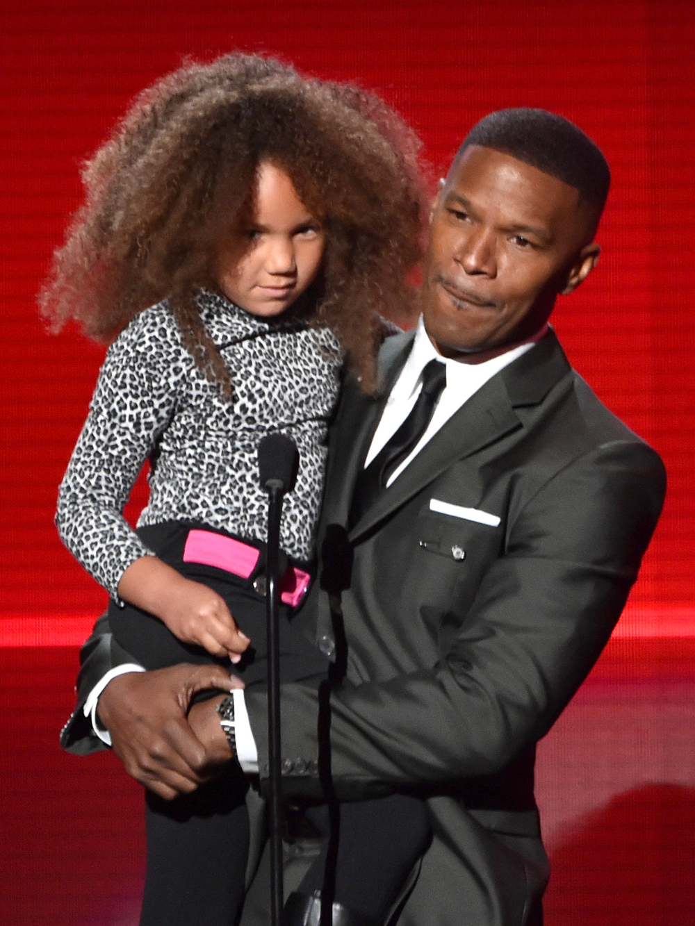 Jamie Foxx and Daughter Annalise Bishop Present at the 2014 AMAs and It Was Adorable (PHOTO)