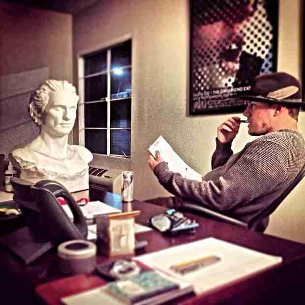 Magic Mike 2: Channing Tatum Starts Script, Stares at Matthew McConaughey Statue (PHOTO)