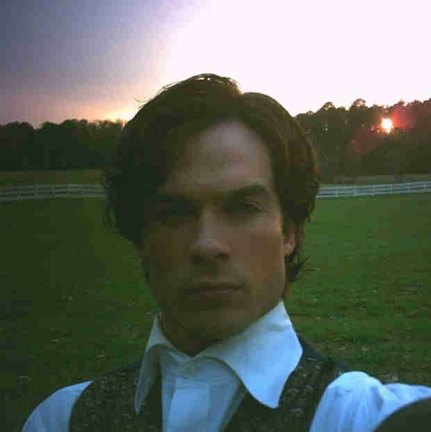 Ian Somerhalder Posts Throwback Pic to Civil War Version of Damon Salvatore (PHOTO)