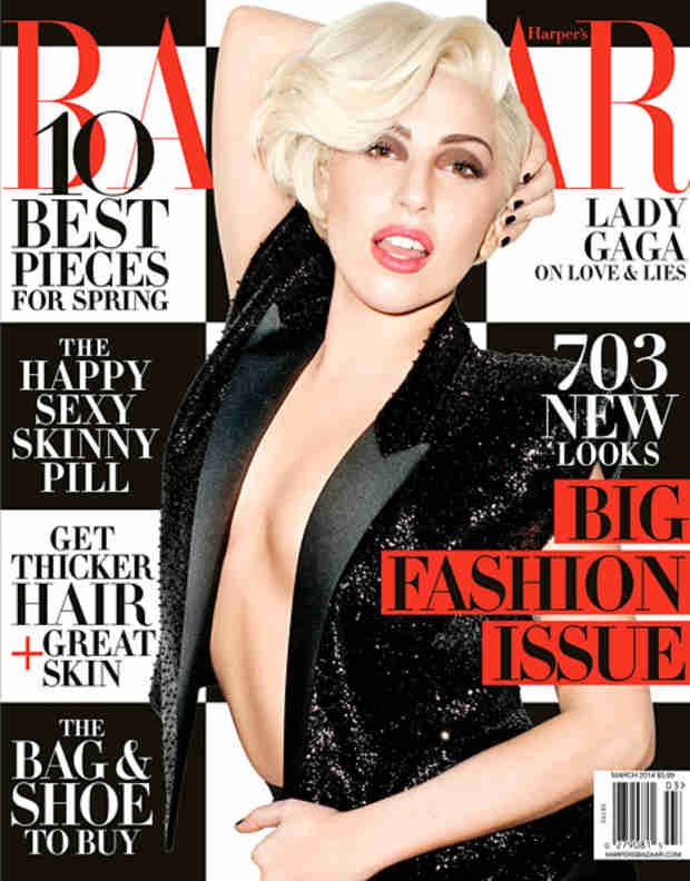 "Lady Gaga on Harper's Bazaar's March Cover: ""I Became Very Depressed at the End of 2013″"