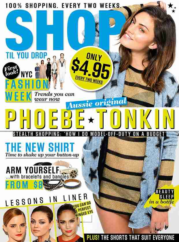 Phoebe Tonkin Stuns on the Cover of Shop Til You Drop (PHOTO)