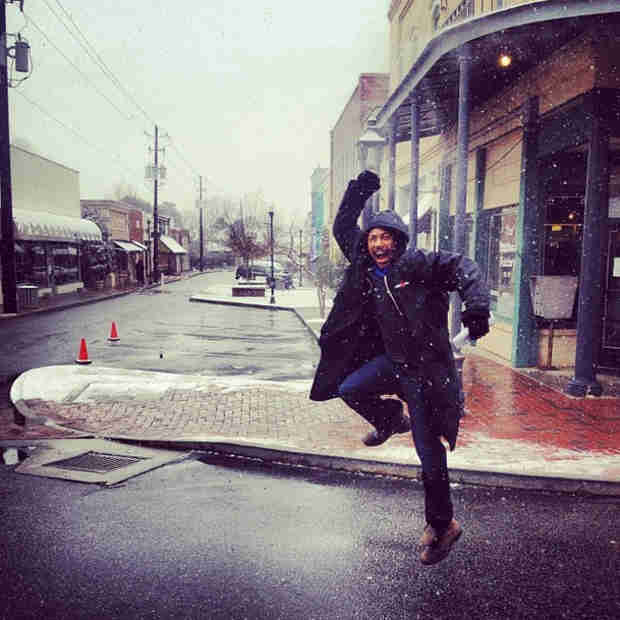 Charles Michael Davis Wins Life By Being Adorable in the Snow (PHOTO)