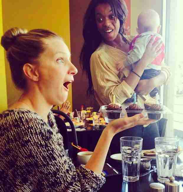 Heather Morris's Baby Elijah Helps Celebrate Her 27th Birthday (PHOTO)