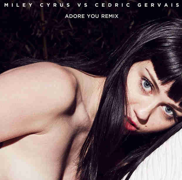 "Miley Cyrus Goes Topless and Brunette for ""Adore You"" Cover Art (PHOTO)"