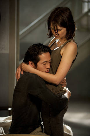 "Steven Yeun and Lauren Cohan Diss Name ""Gleggie"": ""It's a Throw-Up Sound"" (VIDEOS)"