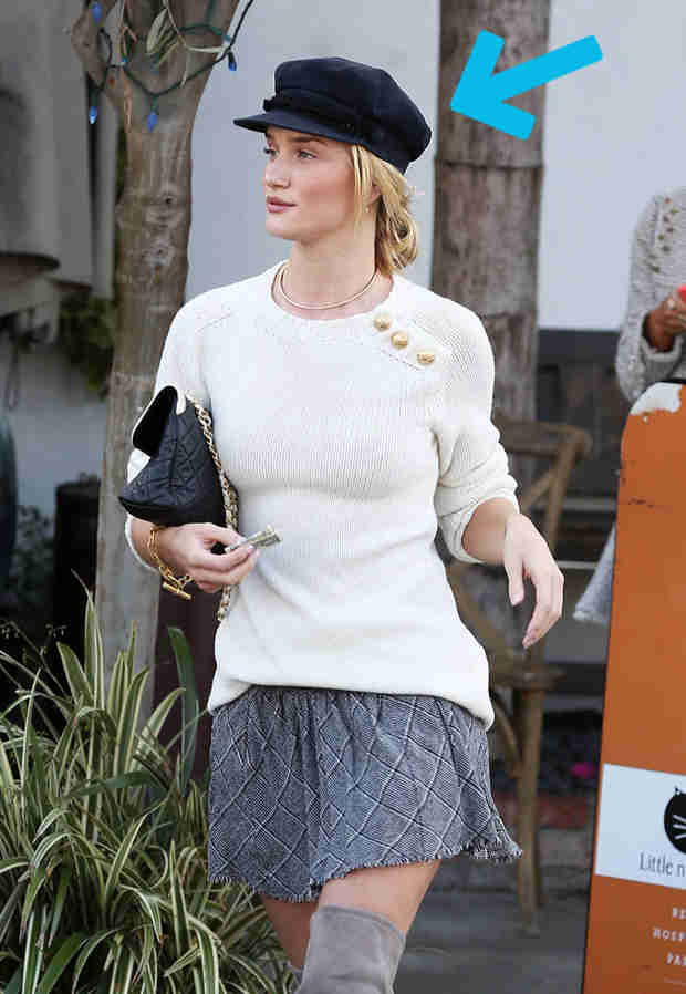 30 Seconds of Style: Rosie Huntington-Whiteley Puts a Cap On It