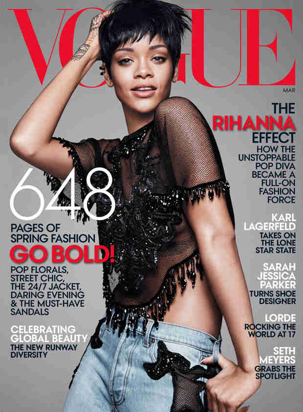 Rihanna Revives Pixie Cut on Vogue Cover — And Says She Never Wears a Bra!