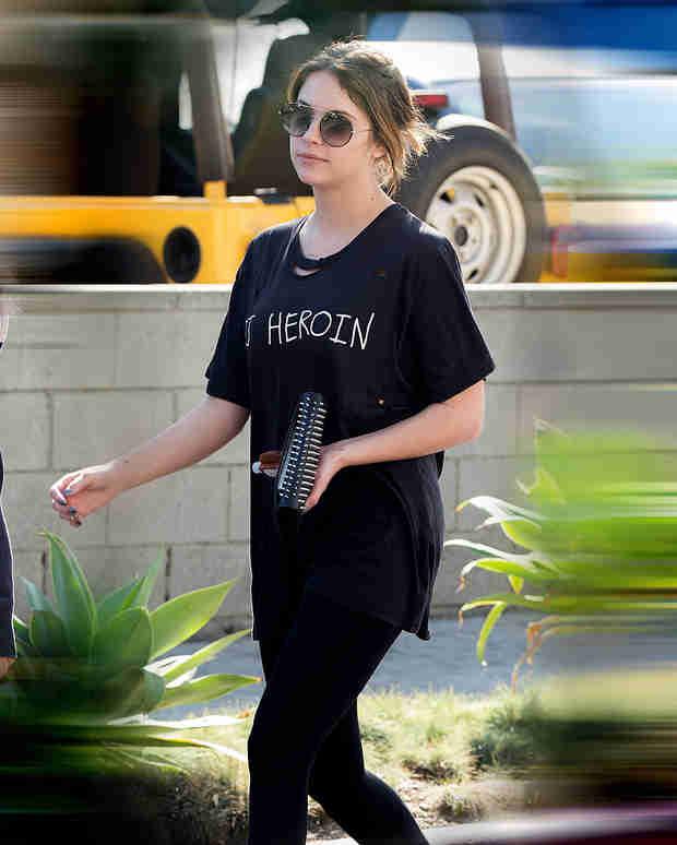 "Ashley Benson Wears ""DJ Heroin"" T-Shirt Days After Anti-Drug Tweet (PHOTO)"