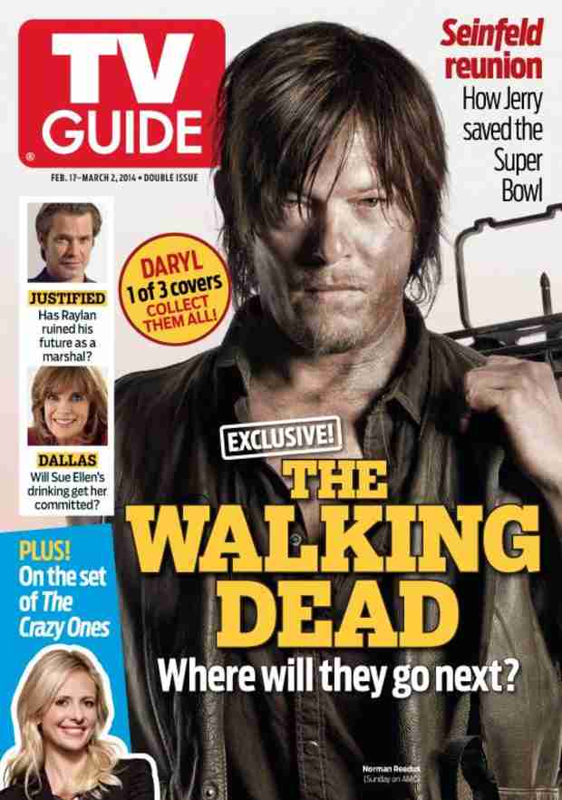 The Walking Dead Season 4: Daryl, Rick, Michonne Get Their Own TV Guide Covers!