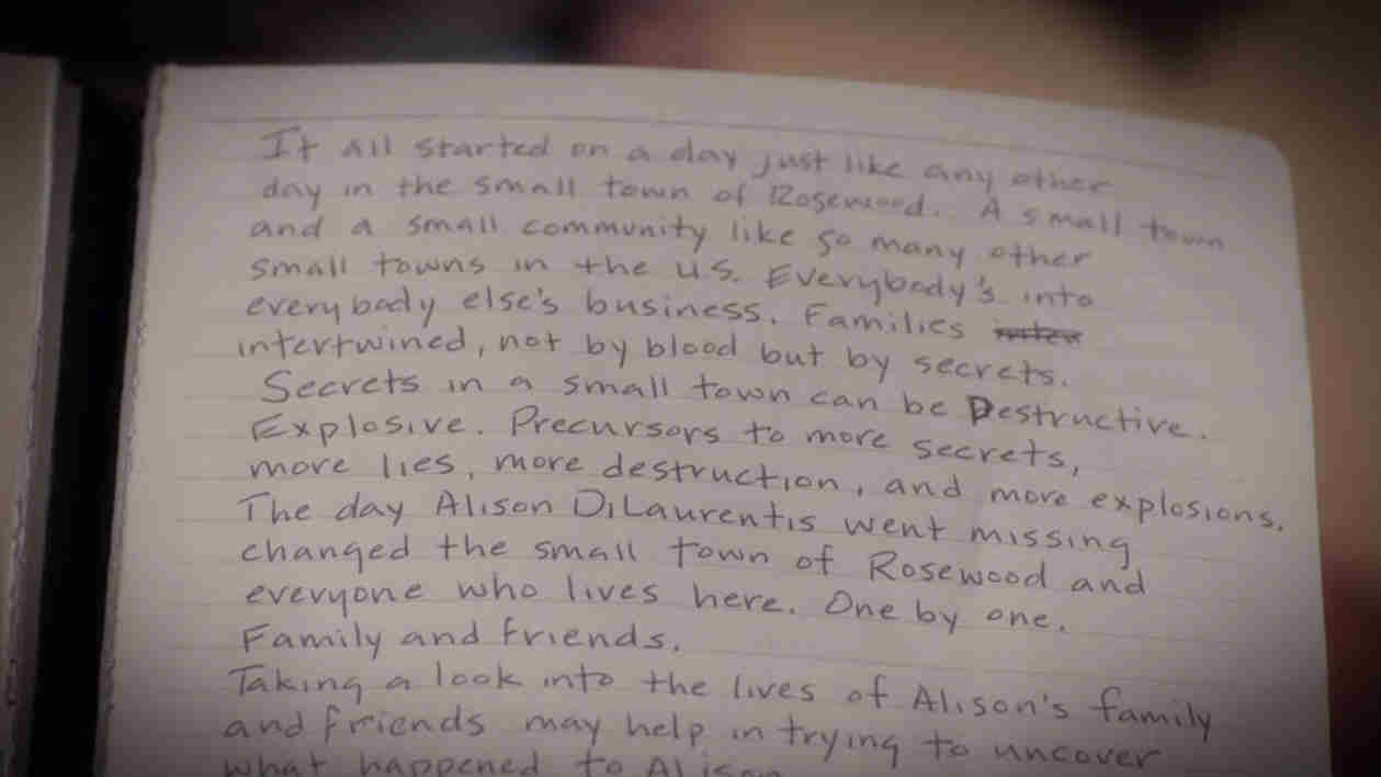 What Did Ezra's Notes Say on Pretty Little Liars?
