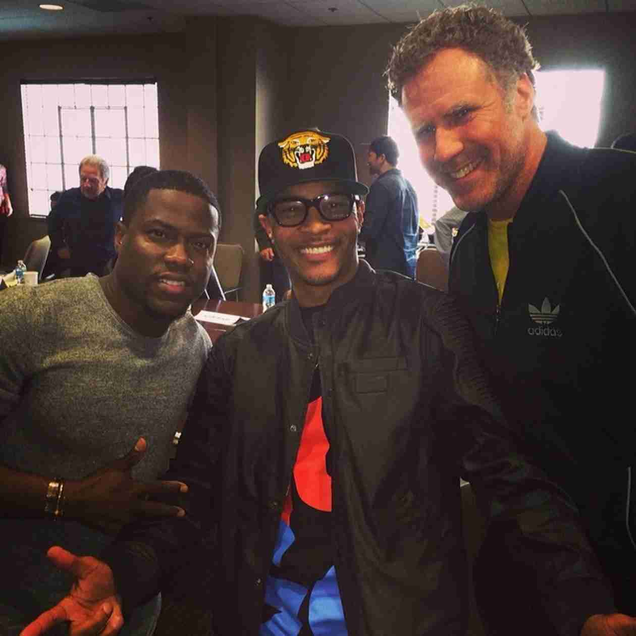 """T.I. Planning Something """"Epic"""" With Will Ferrell and Kevin Hart! (PHOTO)"""