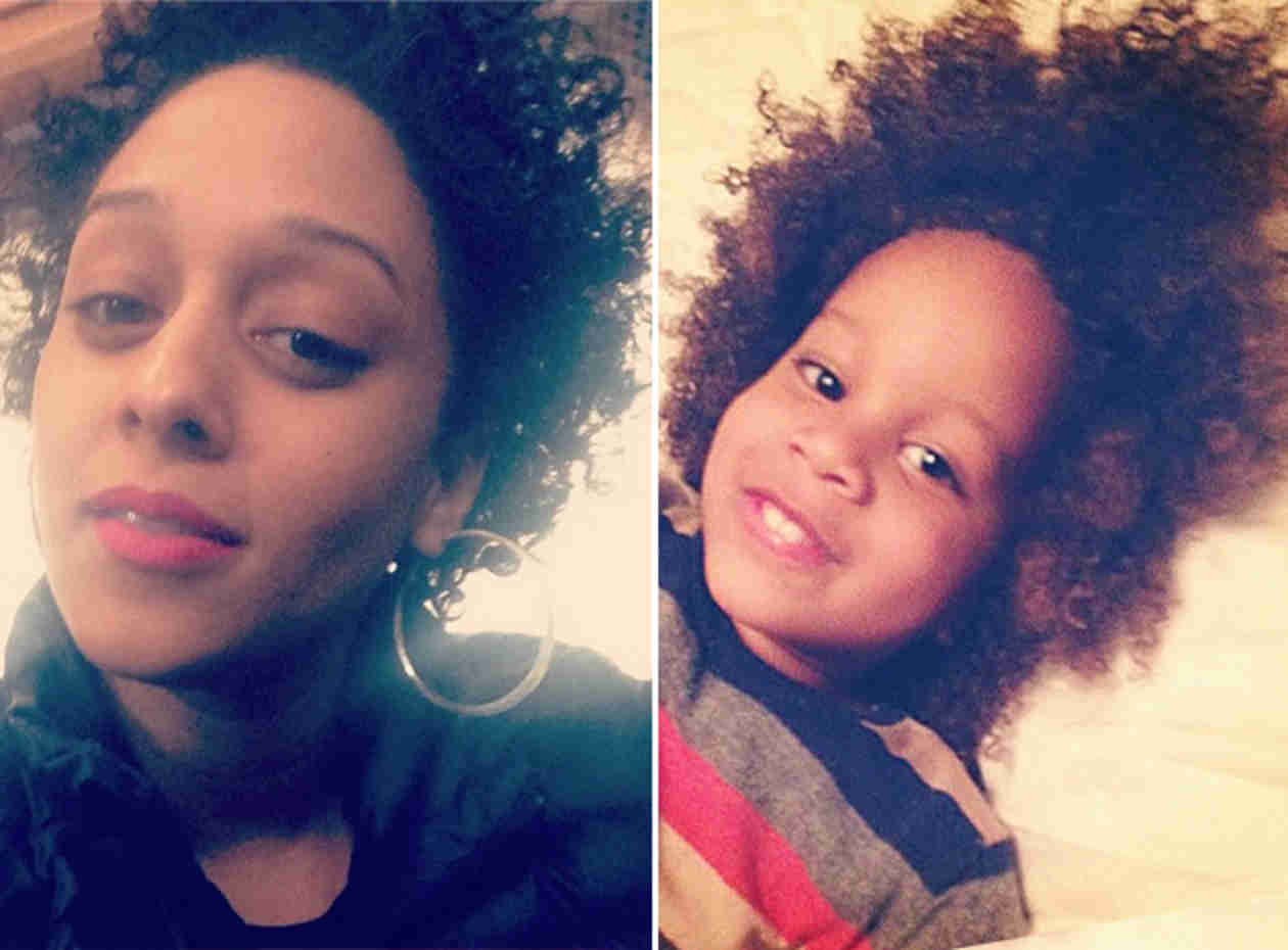 Tia Mowry and Her Son Cree Are Hair Twins — Too Cute! (PHOTOS)