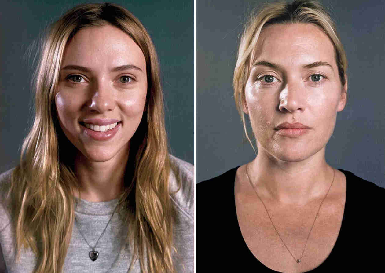 Scarlett Johansson and Kate Winslet Go Makeup-Free in Vanity Fair (PHOTOS)