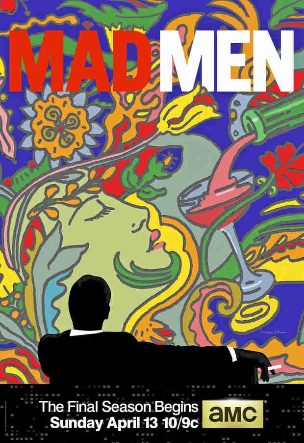 Mad Men Gets Psychedelic Final Season Poster — by Advertising Legend Milton Glaser