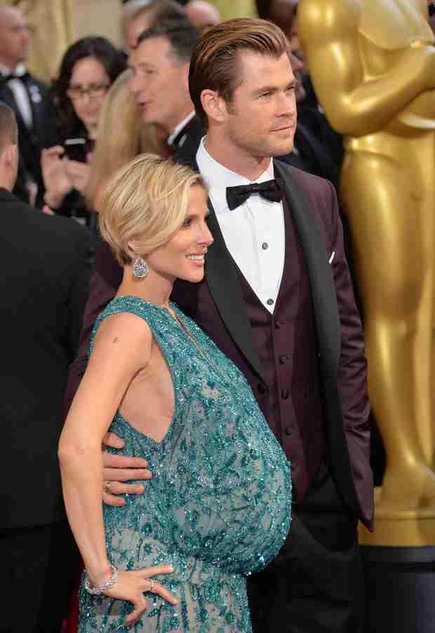 Elsa Pataky's Twin-Sized Baby Bump Turns Heads at the 2014 Oscars (PHOTOS)