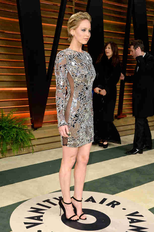 Jennifer Lawrence Skips Underwear After Oscars With See-Through Tom Ford Dress