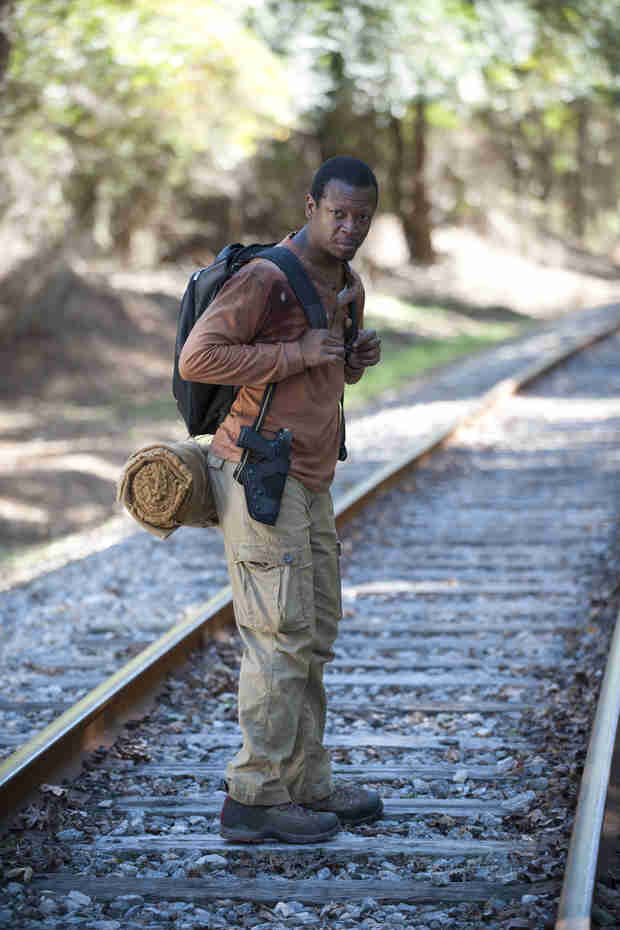 "The Walking Dead Season 4, Episode 13 Photo: Bob Is ""Alone"" on Train Tracks — Terminus or Trouble?"