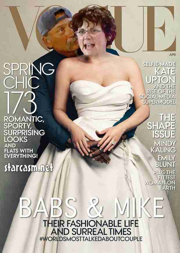Barbara Evans and Husband Mike Take Over Kimye's Vogue Cover! (PHOTO)