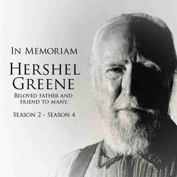 The Walking Dead Season 4: Remembering Hershel Greene (PHOTO)