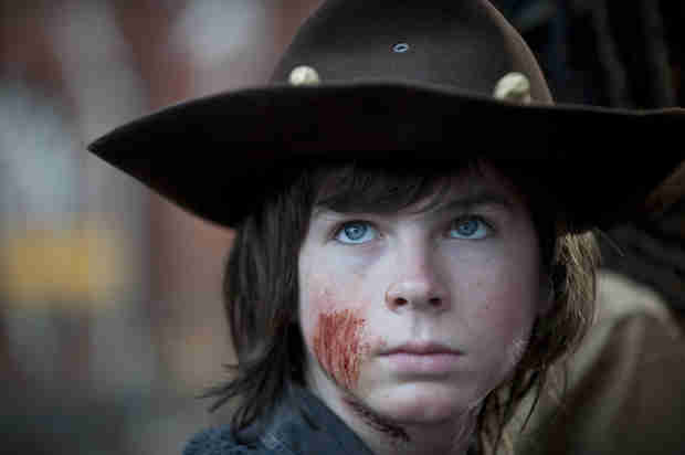 The Walking Dead Season 4 Finale: Carl Grimes Has a Cut on His Face (PHOTO)