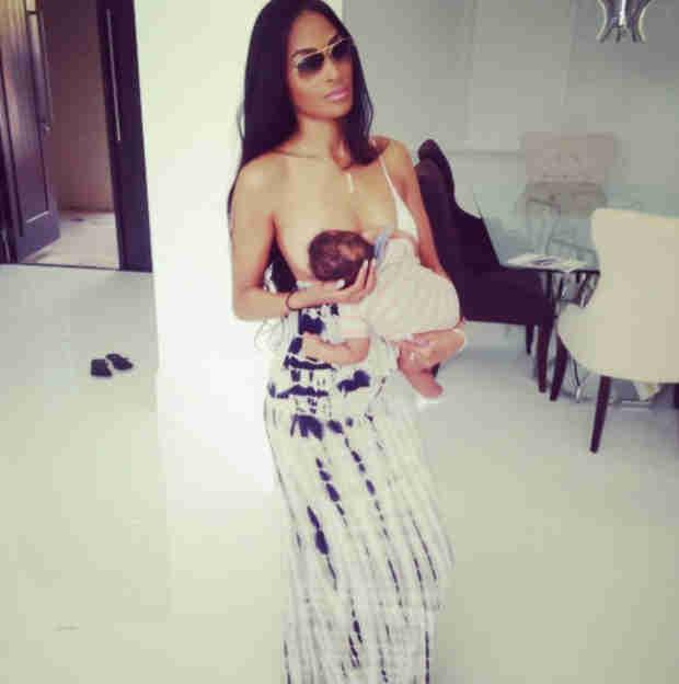 NFL Star Defends Girlfriend's Breastfeeding Selfie After Social Media Backlash