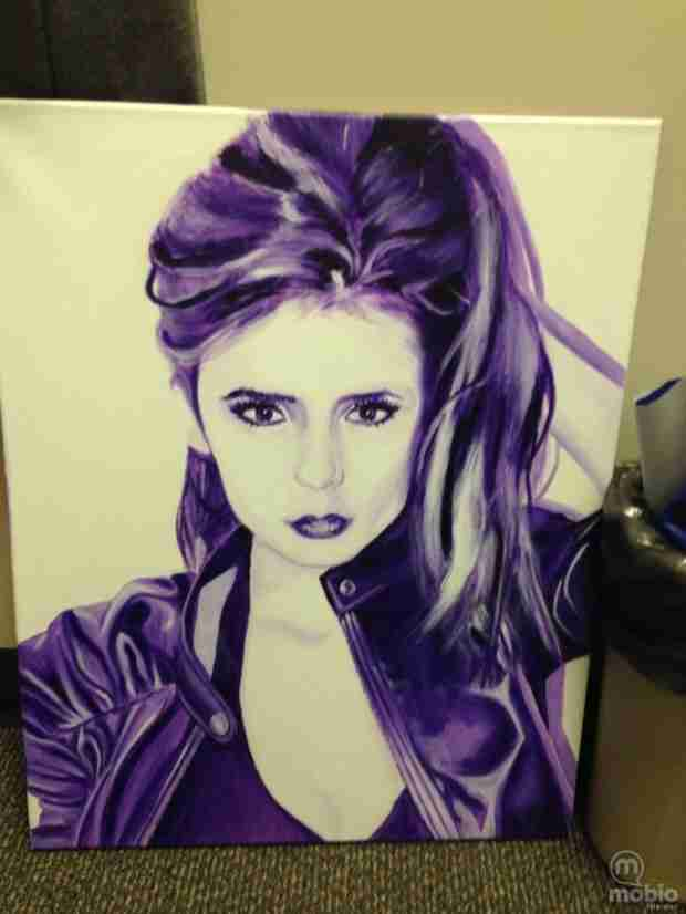 Paul Wesley Has a Portrait of Nina Dobrev in His Dressing Room — Check It Out! (PHOTO)