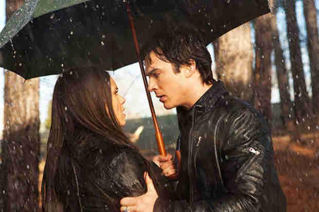 Nina Dobrev Reveals the Cold, Hard Truth About That Rainy Delena Scene