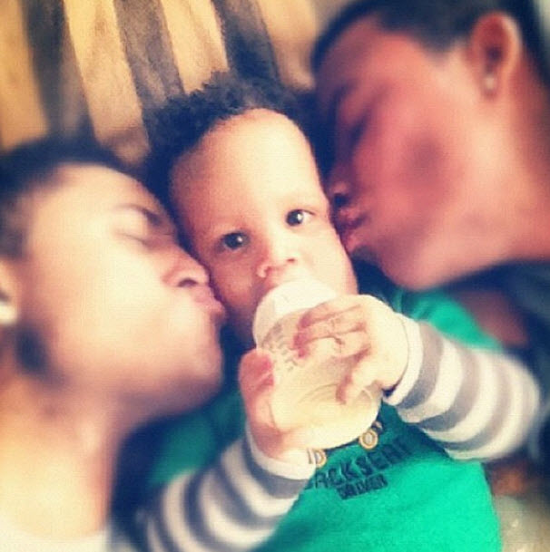 Tia Mowry's Brothers Tahj and Tavior Give Her Son Cree a Kiss! (PHOTOS)