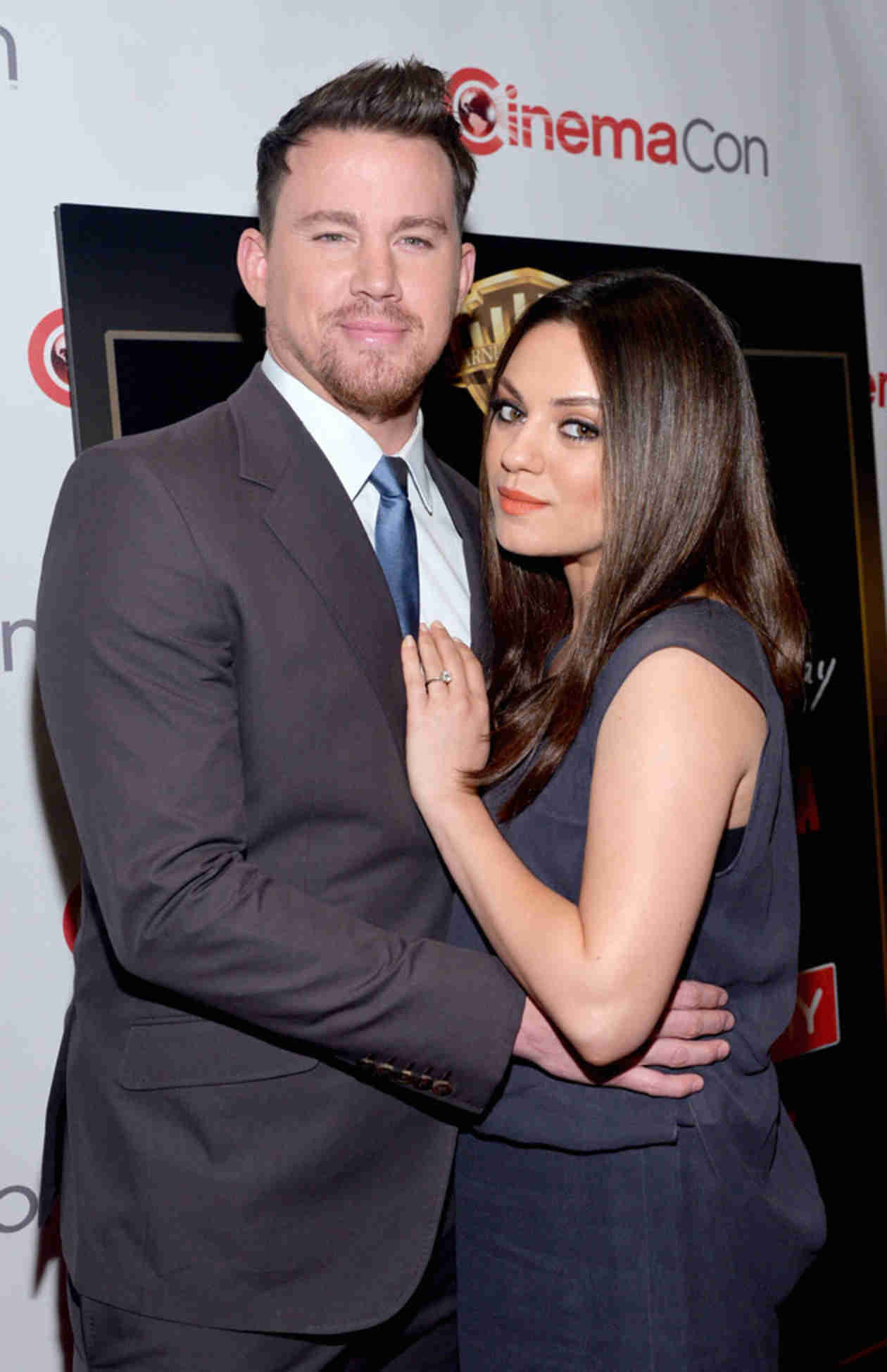 Pregnant Mila Kunis Flaunts Baby Bump on the Red Carpet With Channing Tatum