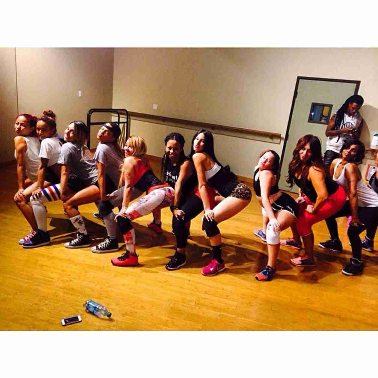 Tiny Harris and Pals Christina Milian and Karrueche Tran Create a Twerk Team! (PHOTOS)