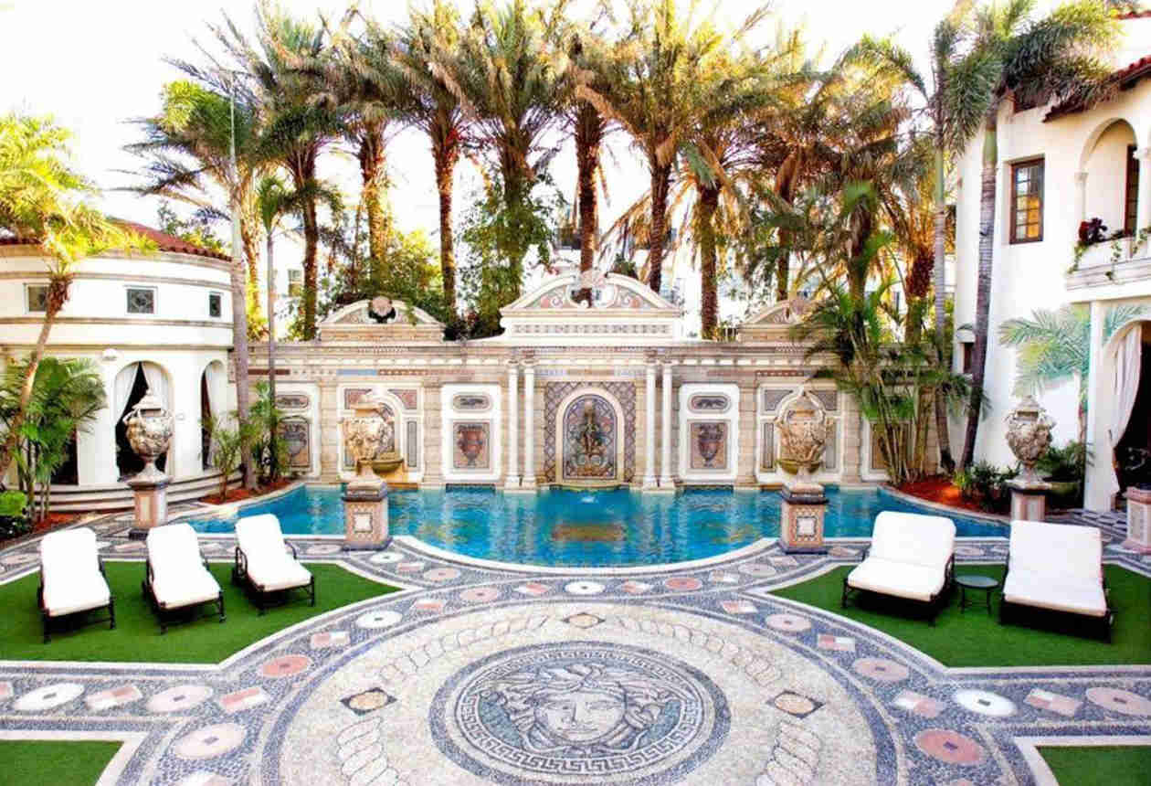 Kim Kardashian Checks Out the Versace Mansion in Miami — Possible Wedding Location?