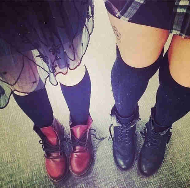 Pretty Little Liars Season 5: Check Out Aria's Style — Knee Socks and Tulle (PHOTO)