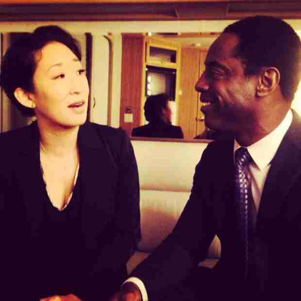 "Grey's Anatomy: Isaiah Washington and Sandra Oh Reunite in ""Cardio Gods"" Twitter Photo"