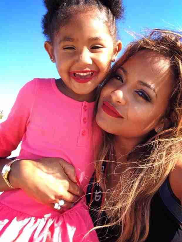 Christina Milian's Daughter Violet Wears Lipstick to Match Her Mama! (PHOTO)