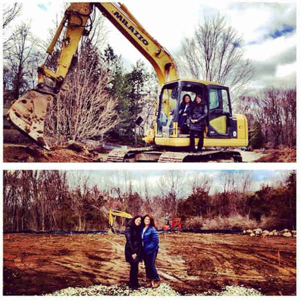 Kathy Wakile at the Site of Her New House! (PHOTO)