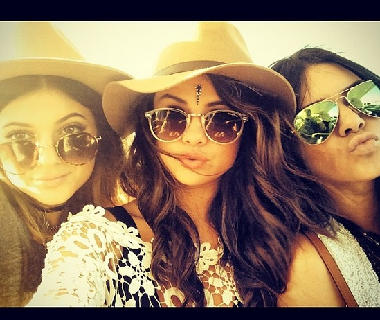 Selena Gomez Parties With Kendall and Kylie Jenner at Coachella — See Their Sexy Pic!