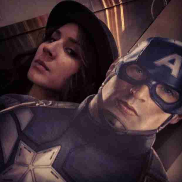 What Is Troian Bellisario Doing With Captain America? (PHOTO)