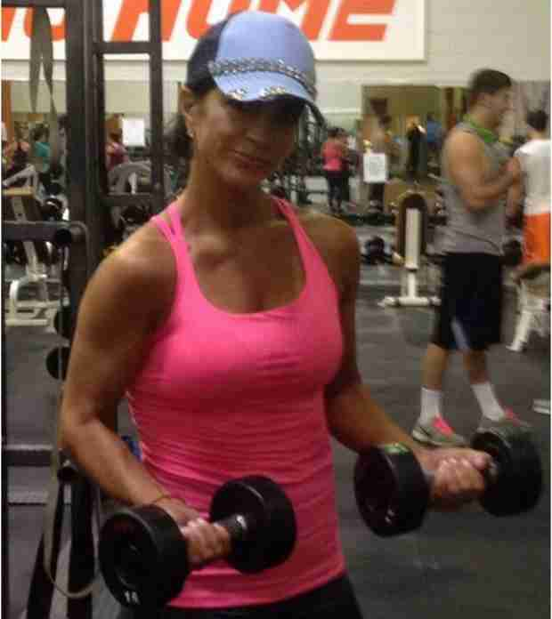 Teresa Giudice Still Hard at Work Working Out (PHOTO)