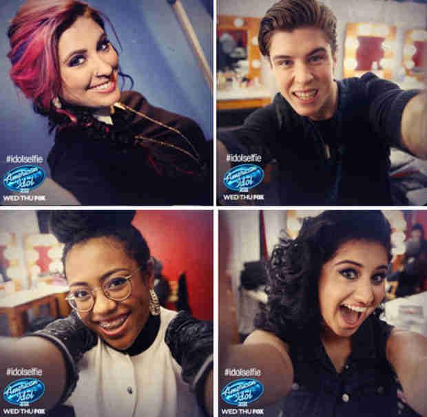 American Idol Season 13 Top 8 Take Selfies — Which Is Your Favorite?