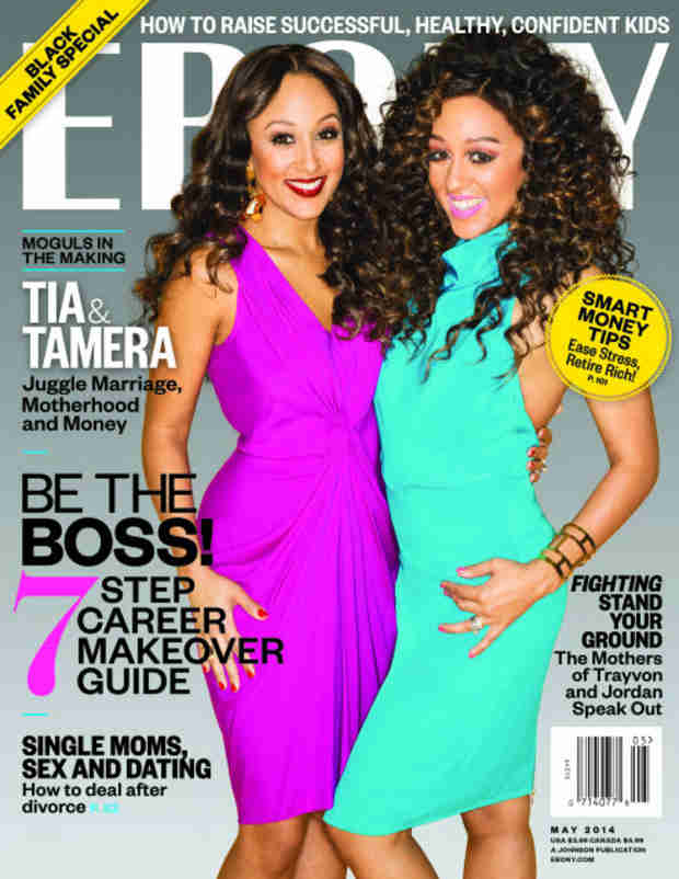 Tia and Tamera Mowry's Ebony Cover: Talk Love, Marriage, and Babies
