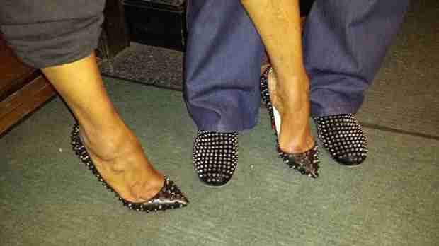 Gregg and NeNe Leakes Wear Matching Shoes — Too Cute or Too Much? (PHOTO)