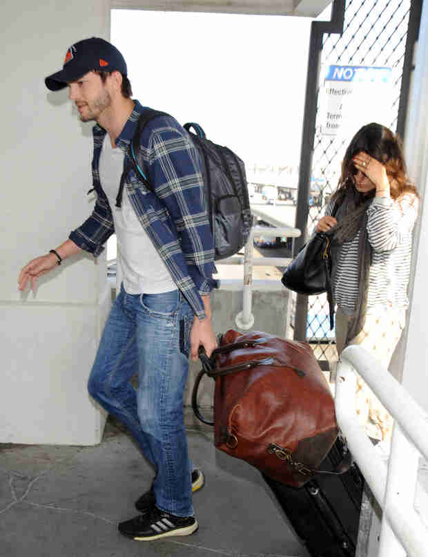 Ashton Kutcher Brings Mila Kunis To His Sister's Wedding