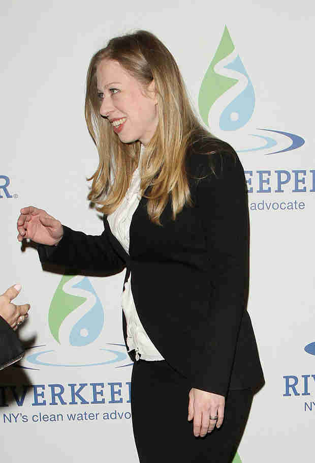 Chelsea Clinton Makes Her Baby Bump Debut — See Her Growing Belly! (VIDEO)