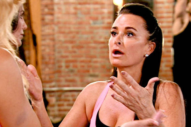 Kyle Richards Puts Deodorant on Her Upper Lip — But Why? (VIDEO)