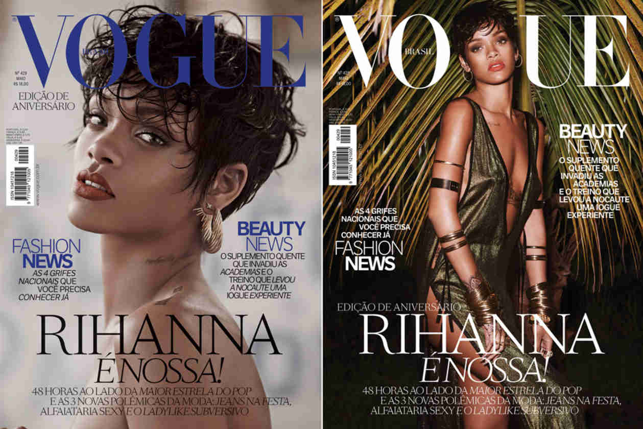 Rihanna Stuns on Two Sexy Vogue Brazil Covers — Which Do You Like Best?