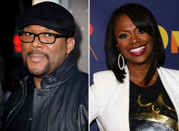 Tyler Perry Attends Kandi Burruss's A Mother's Love — Is He Adapting It Into a Movie? (VIDEO)