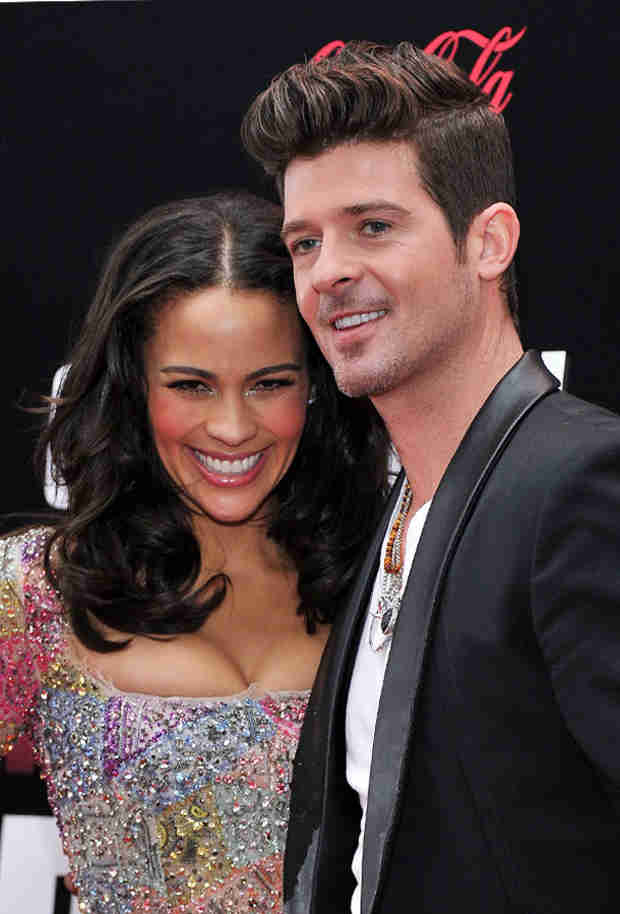 "Robin Thicke Thanks Paula Patton ""For Putting Up With Me"" at Billboard Music Awards (VIDEO)"